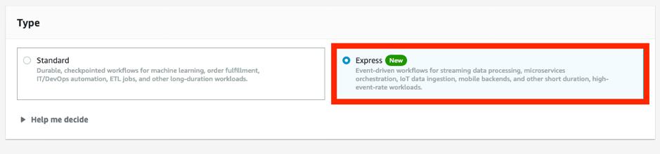 Figure 2 New Express Workflow option