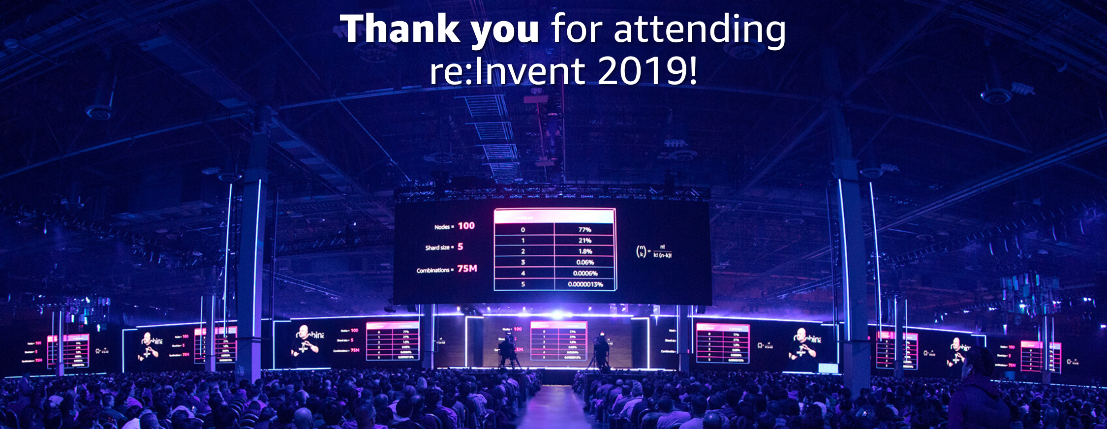 Thank you for attending re:Invent 2019
