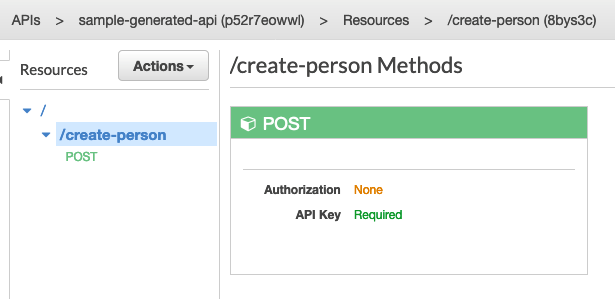 API Gateway dashboard