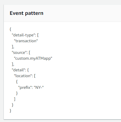 EventBridge event patterns
