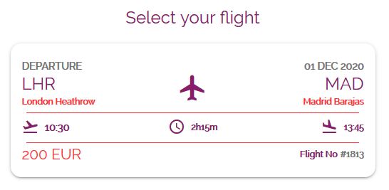 Select flight