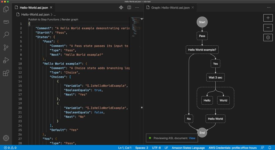 AWS Step Functions VS Code plugin.
