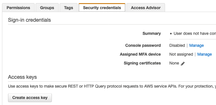 Create Access Key for Jenkins user fig. 1