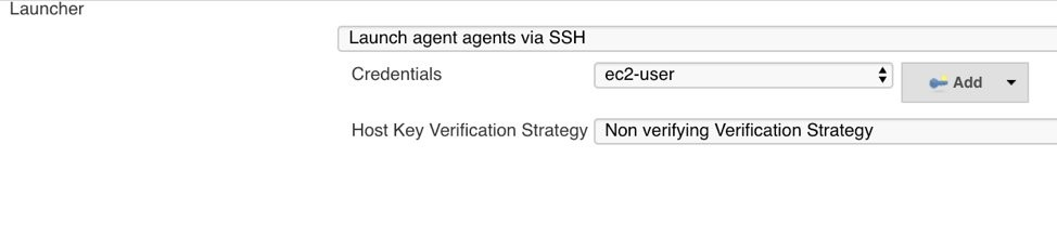 Configuring Jenkins launch agents by ec2-user via SSH