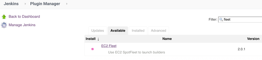 EC2 Fleet Jenkins plugin