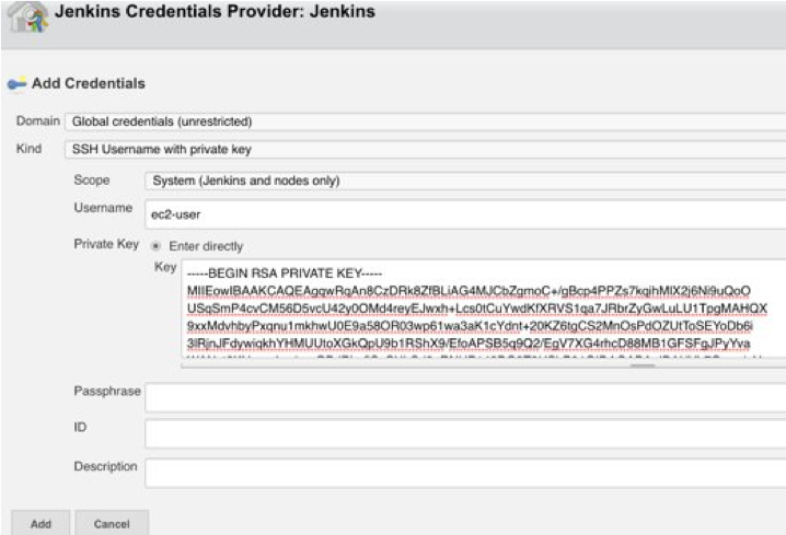 Configuring Launcher and providing Jenkins credentials