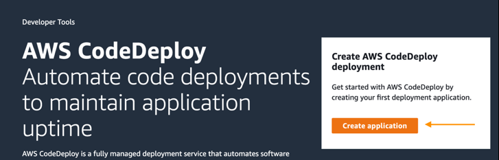 codedeploy create application