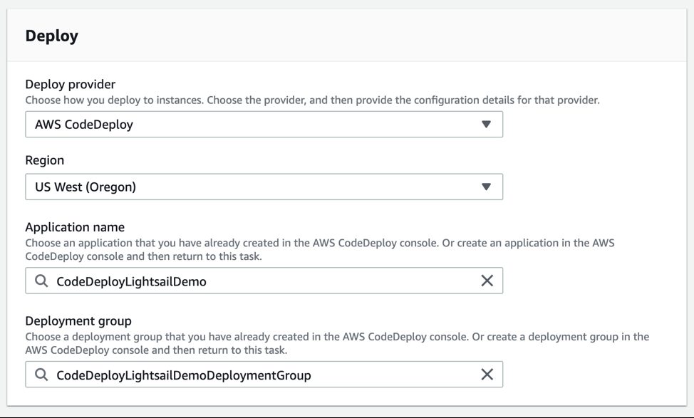 codedeploy configuration