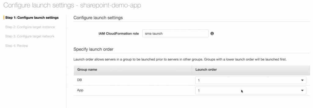 Configure launch settings