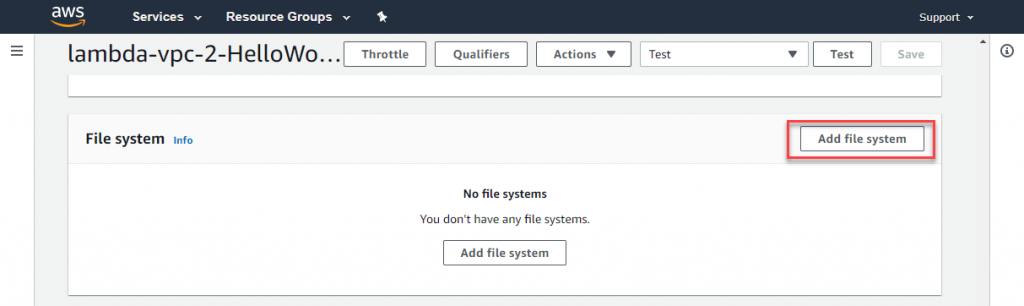 EFS: Add file system