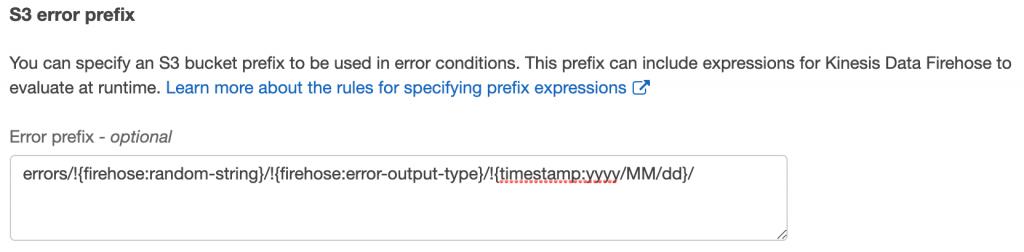 S3 error prefix