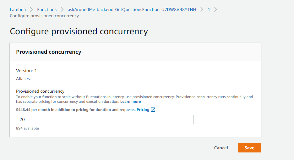 Configure Provisioned Concurrency