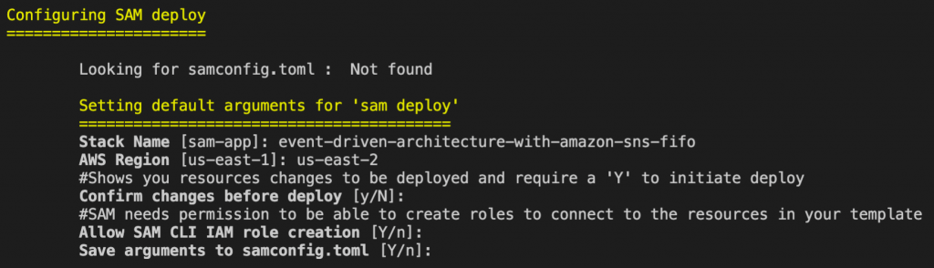 SAM guided deployment