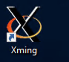 click on xming icon