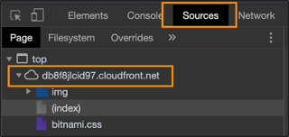 sources in cloudfront.net