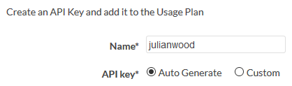 Name API Key
