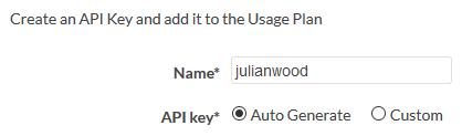 Name API Key