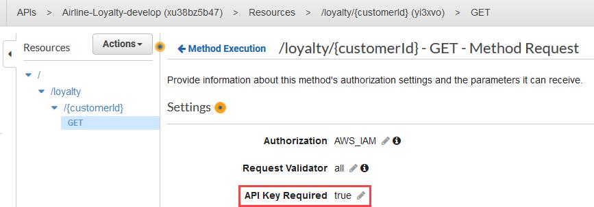 Setting API Key Required on API Gateway method