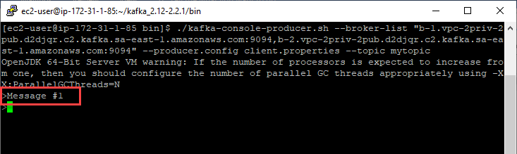 Produce Kafka messages from terminal
