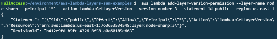 add-layer-version output