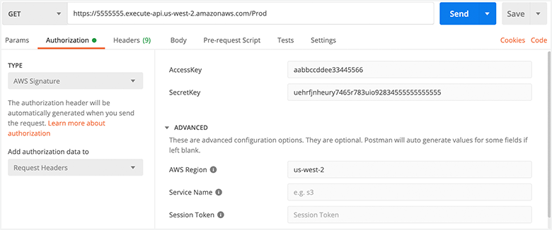 Configuring Postman authorization