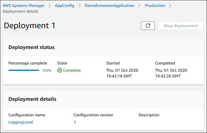 AWS AppConfig deployment