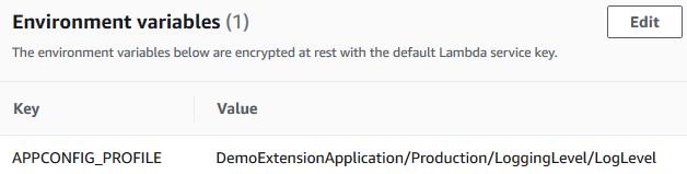 AWS AppConfig 프로필을 지정하는 Lambda 환경 변수