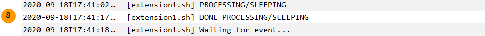 Extension processing