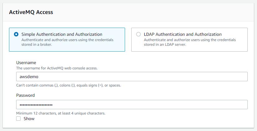 ActiveMQ access