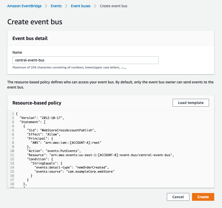 Create event bus