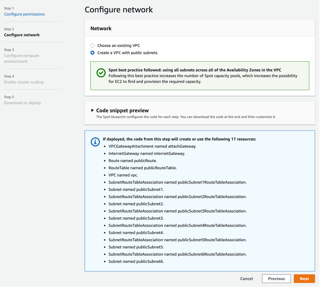 Step 2 configure network