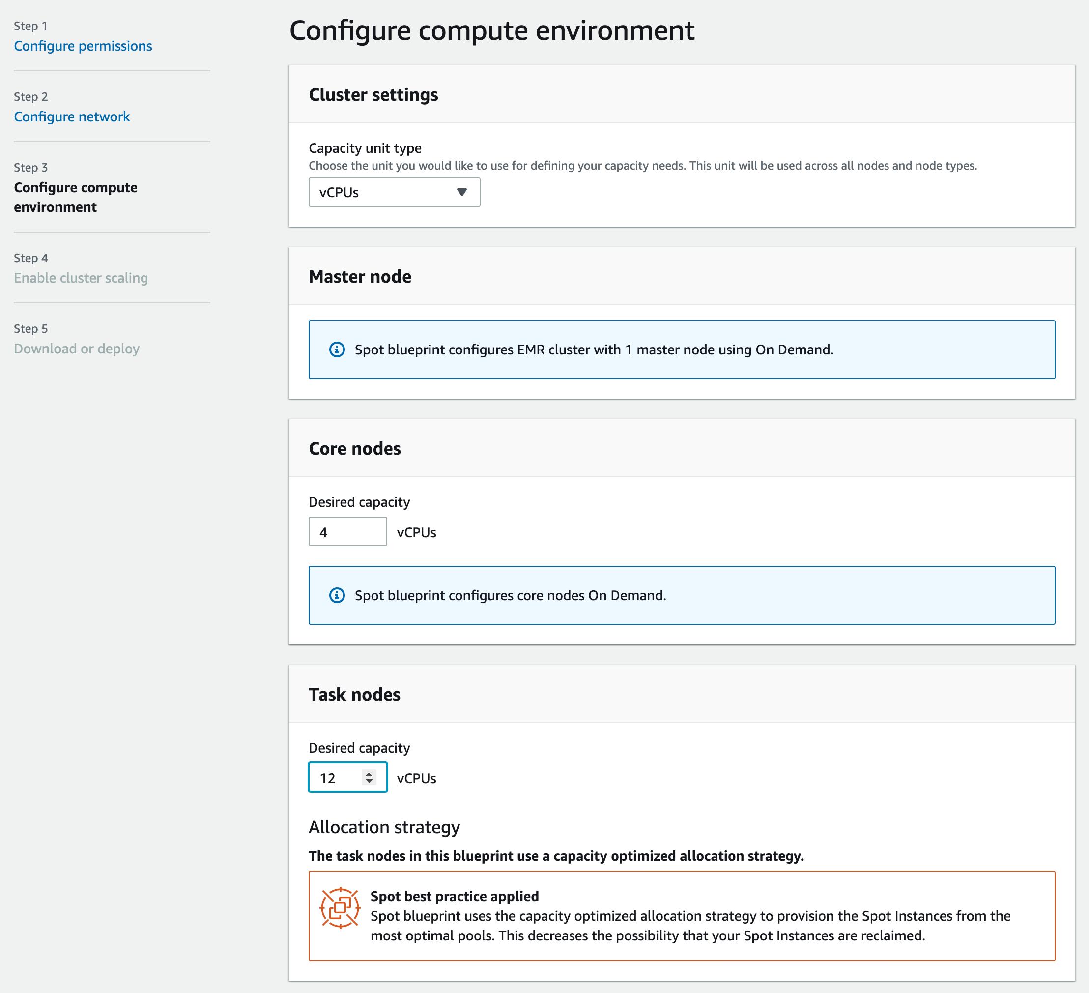 Step 3 configure compute environment