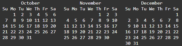 ICYMI Q4 calendar