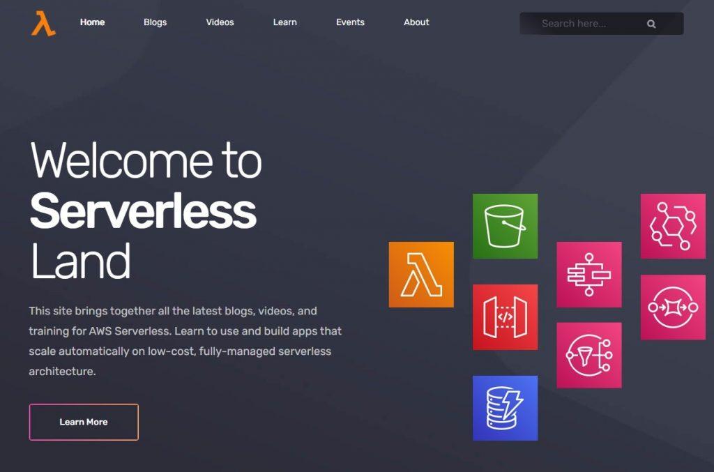 Serverless Land website