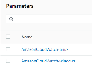 System Manager Parameter Store: Parameters created by CloudWatch agent configuration wizard