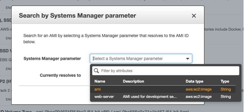Use the parameter in the Amazon EC2 console