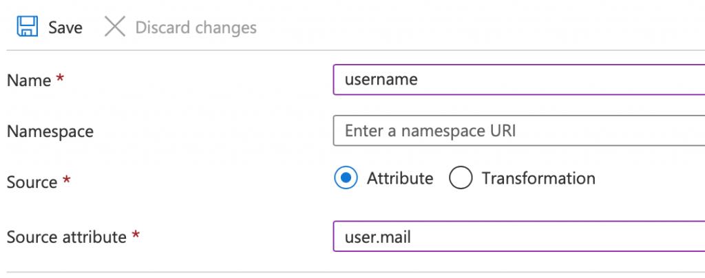 Username and source