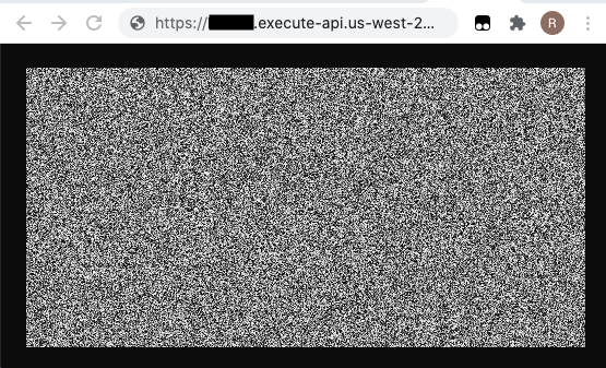 Image of noise with default setting