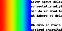 Rainbow and text source