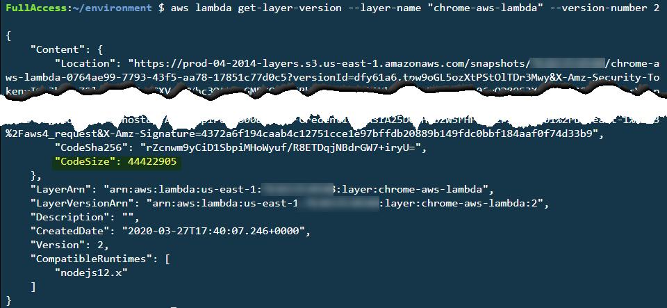 get-layer-version CLI