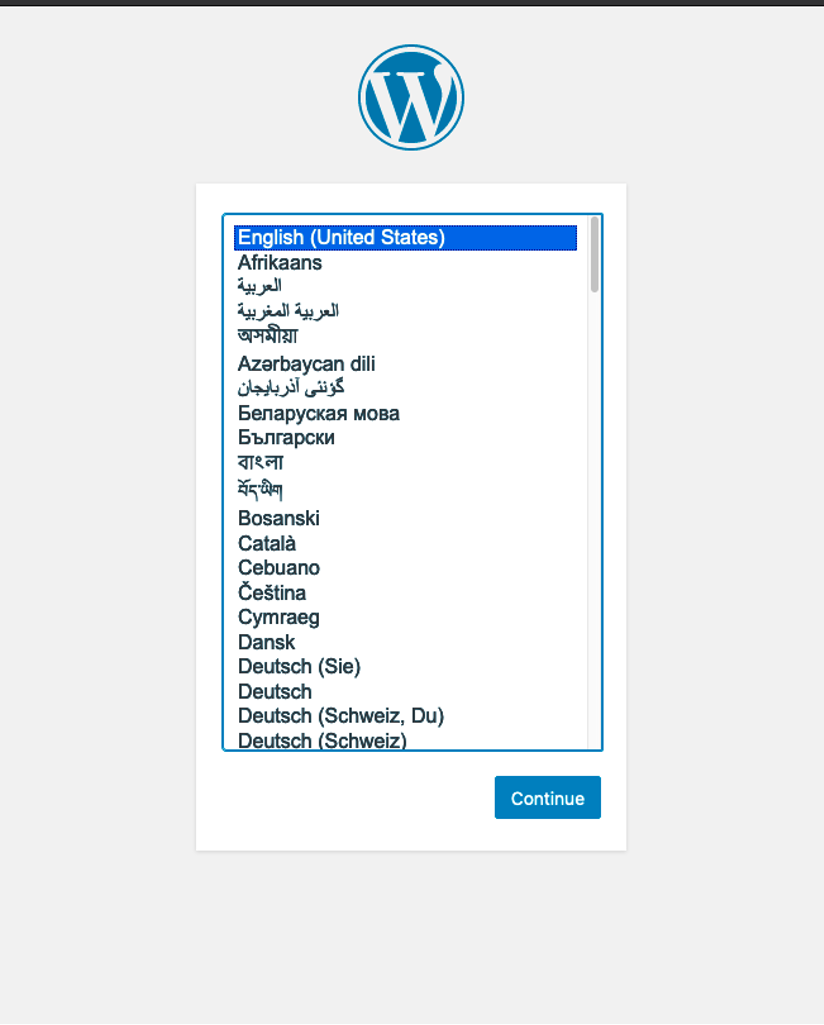 wordpress languages