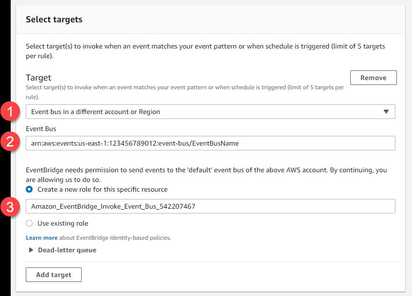 Select targets dialog