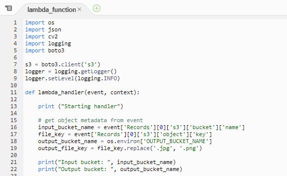 Code outside the handler