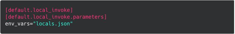 Default environment file setting