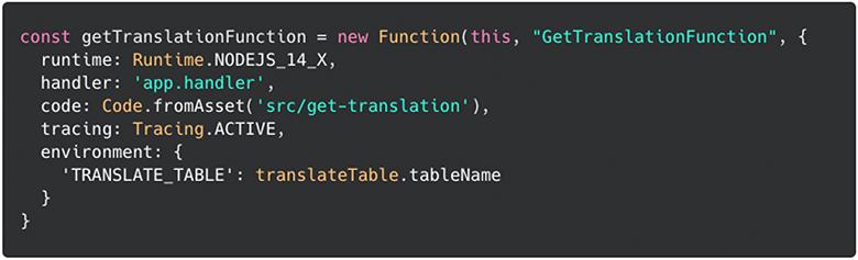 Lambda construct example
