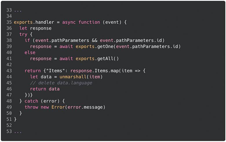 Code change example
