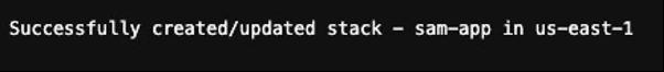 success message terminal