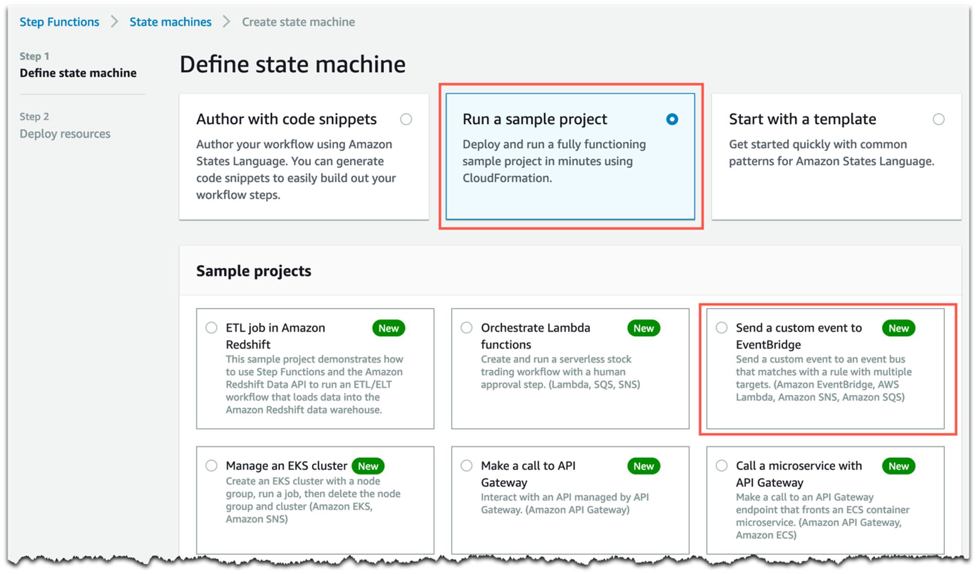 Run a sample project