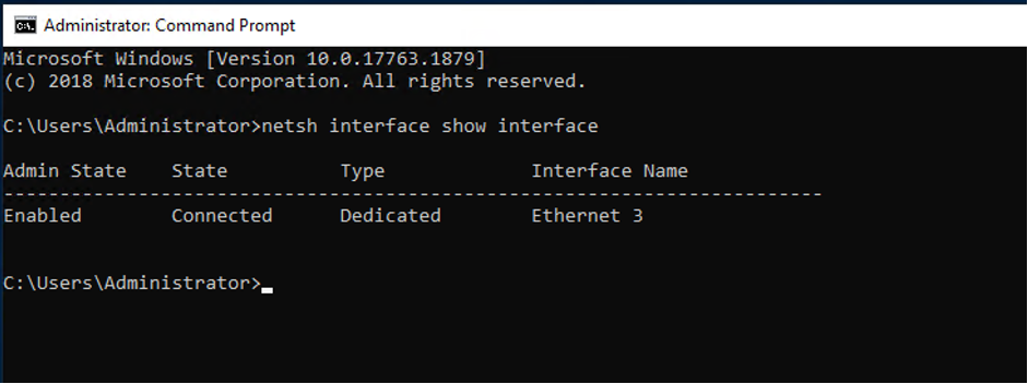 Figure 1 Available Network Interfaces