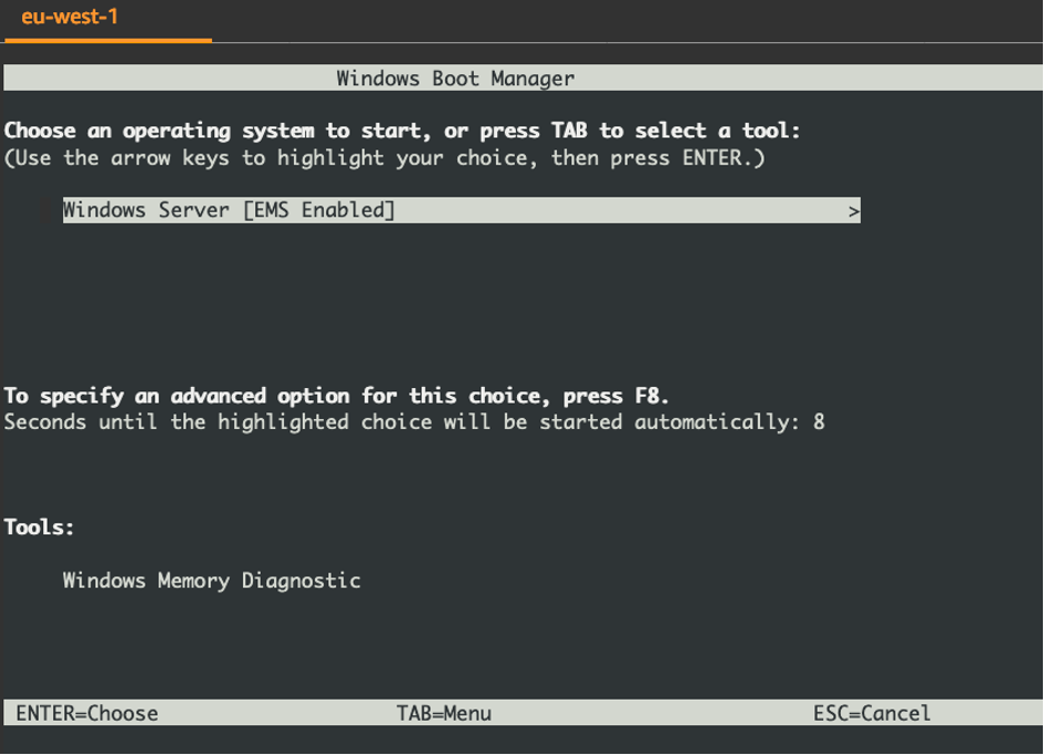 Figure 6 Windows boot manager